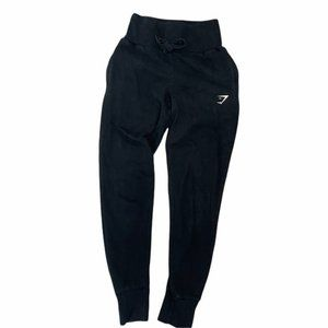 GYMSHARK Black High Waisted Sweatpants Joggers *No Size* Pre-Owned GUC